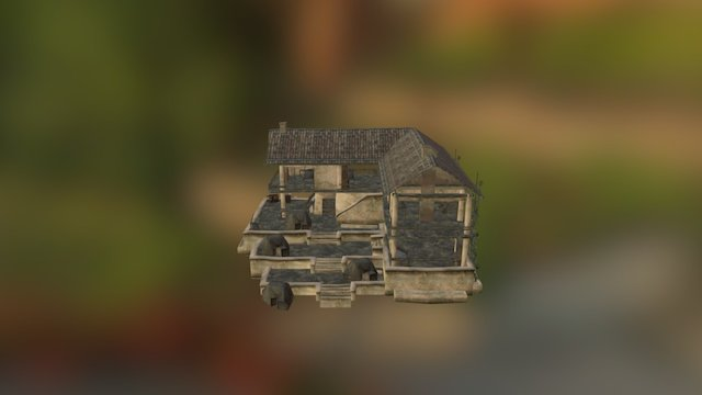 Abandoned House from BAWars 3D Model