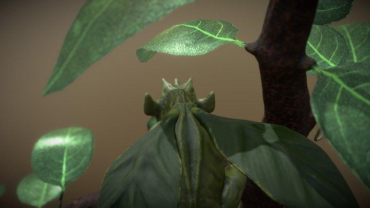Leaf-eating little dragon 3D Model