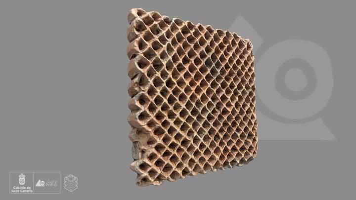 Pintadera (sello de barro cocido) 3D Model