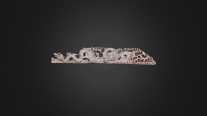 Wood Carving of  Dragon 3D Model