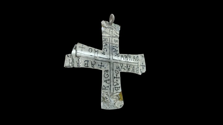 Silver cross from Lausanne Cathedral - 7th c. AD 3D Model