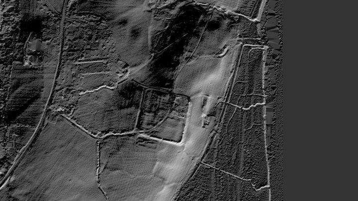 Caerhun (Canovium/Conovium) Roman Fort 3D Lidar 3D Model