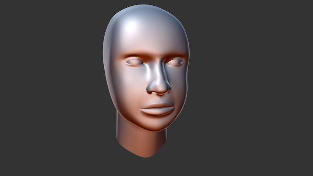Woman Head Model Smooth 3D Model