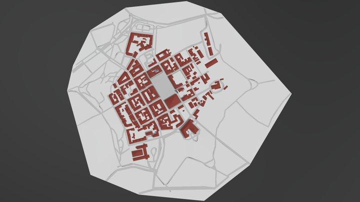 Croatian historical centre's model 3D Model