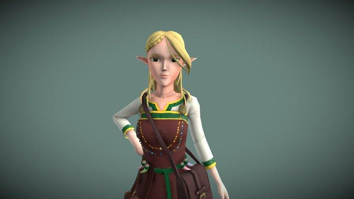 Antinua - elf potion maker 3D Model