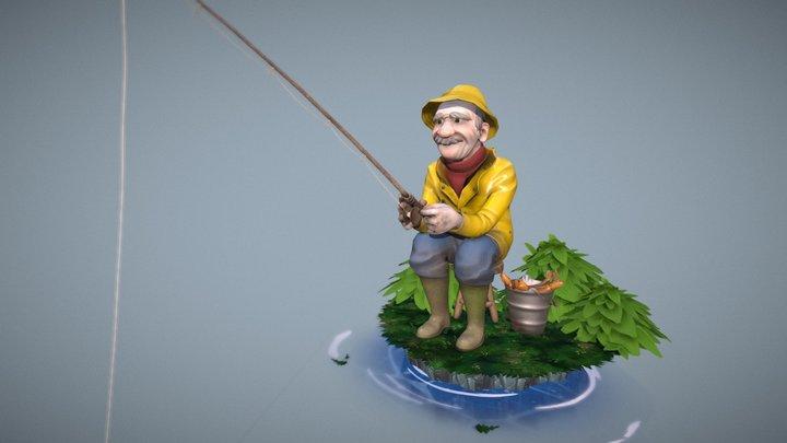 Old Fisherman 3D Model