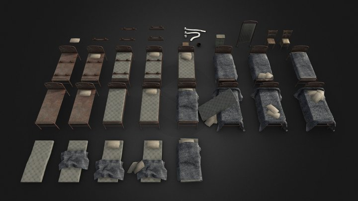 Cell And Room Props - Sanity Shift 3D Model