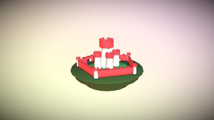 Castelo Low Poly 3D Model