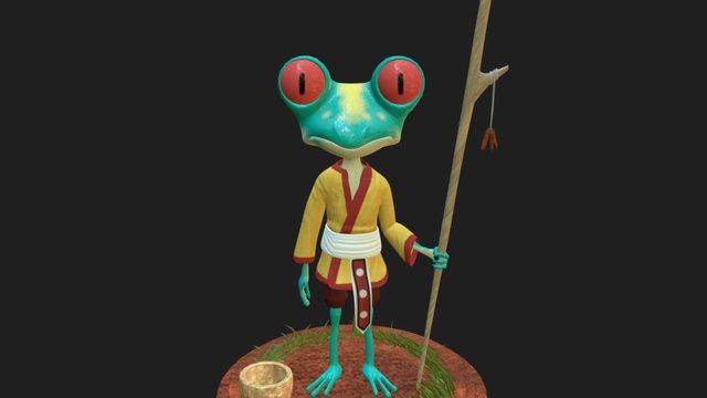 Priest Frog 3D Model