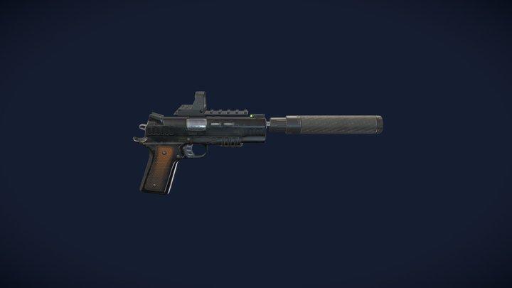 1911 pistol 3D Model