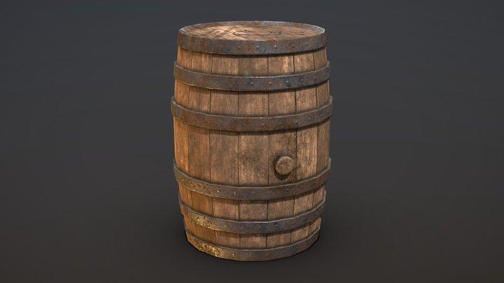 Wooden Barrel - Medieval Project 3D Model
