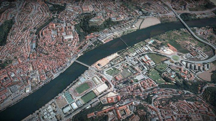Coimbra, Portugal - ville 3D Model