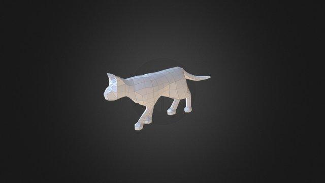 Low Poly Cat Walk 3D Model