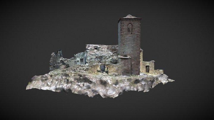 San Salvador church, Bagüeste, Spain 3D Model