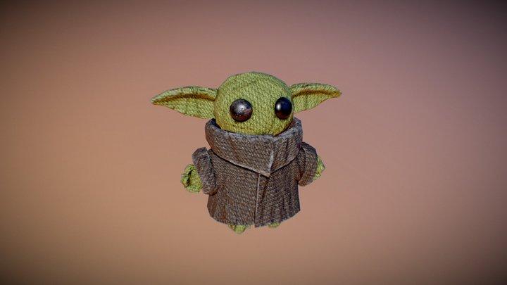 Baby Yoda Plush 3D Model