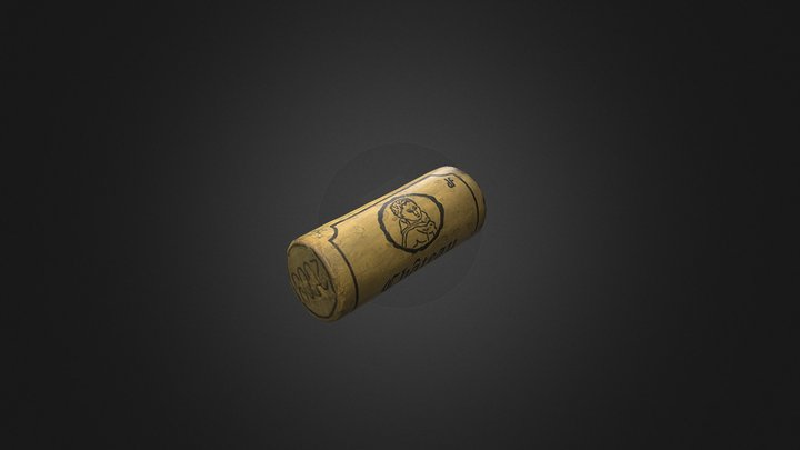 Wine Cork Stopper 3D Model