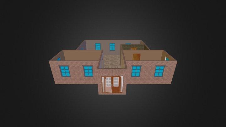 House- Walls with door and windows.kmz 3D Model