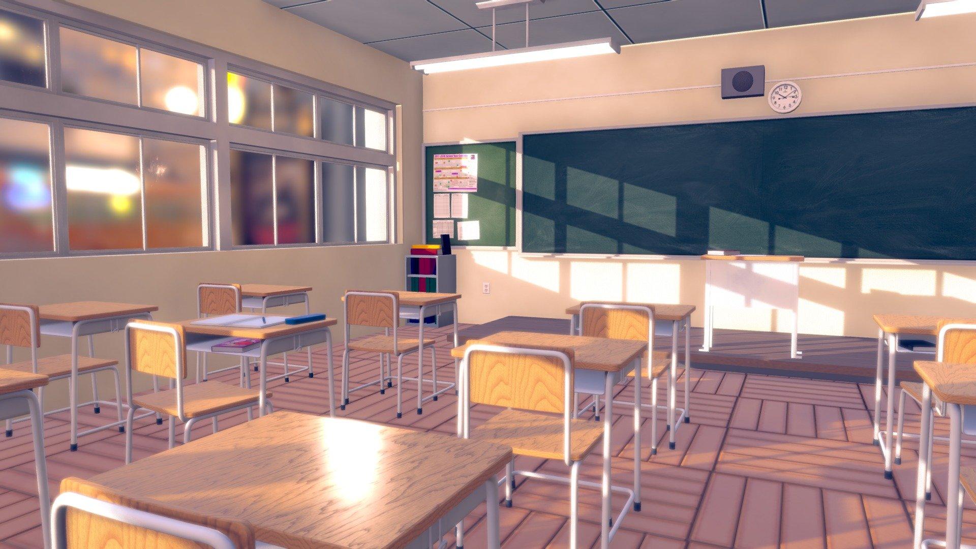 Anime Classroom - Download Free 3D model by BigMiniGeek ...