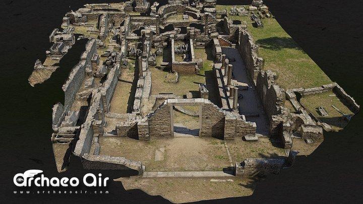 SALONA - Basilica and Cemetery of Manastirine 3D Model
