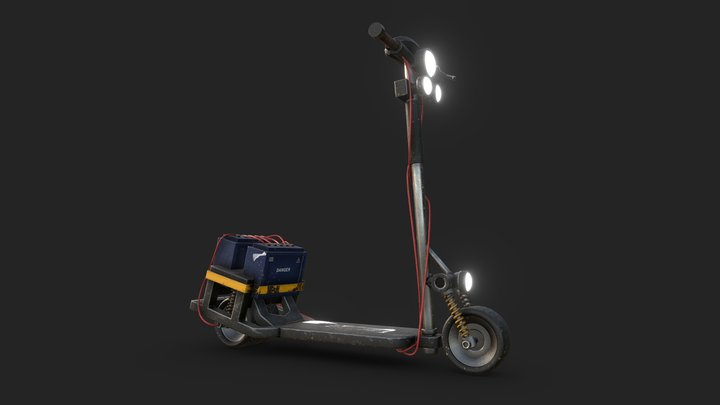 Cyberpunk Scooter 3D Model