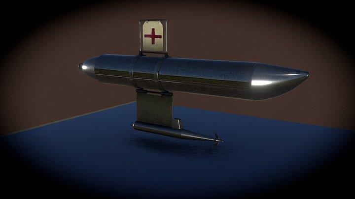 MOLINETE DE SUSPENSÃO ELÉCTRICO COM  FLUTUADOR 3D Model