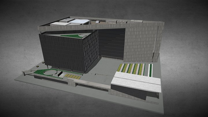 LOS ANGELES Police Headquarter 3D Model