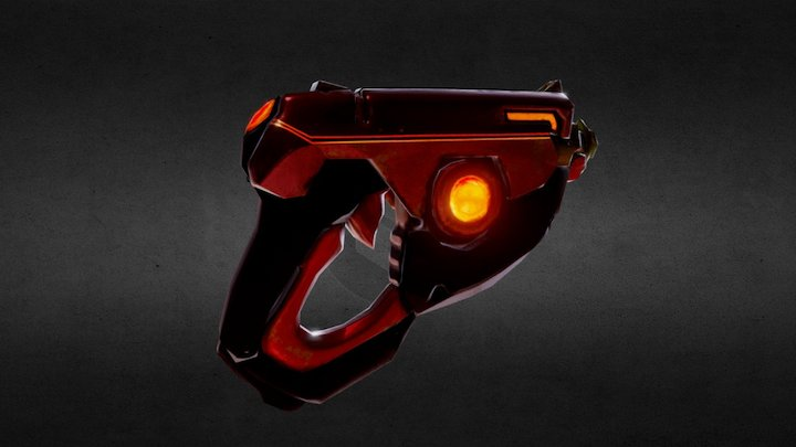 Tracer Gun remake 3D Model