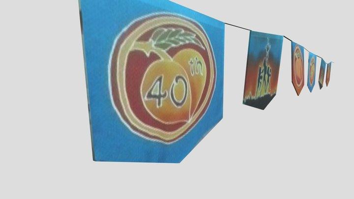 OCF 40th annual Silk Screen Flags 3D Model