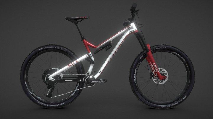 Mountain Bike MTB - COMMENCAL 3DModel (AR ready) 3D Model