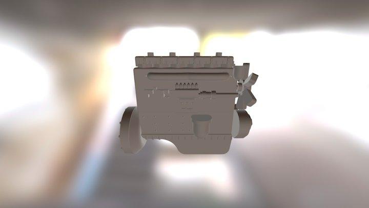 Isuzu DA120 Diesel engine for small locomotive 3D Model