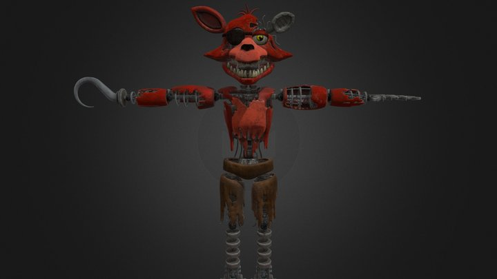 Withered Foxy   Help Wanted 3D Model