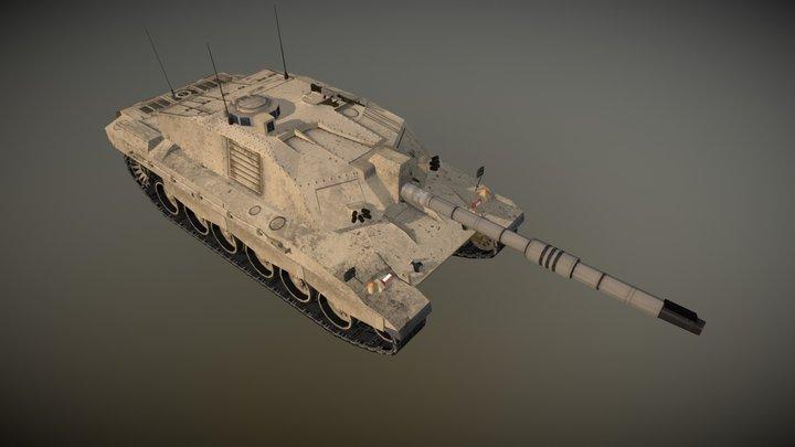Challenger 2 Main Battle Tank 3D Model