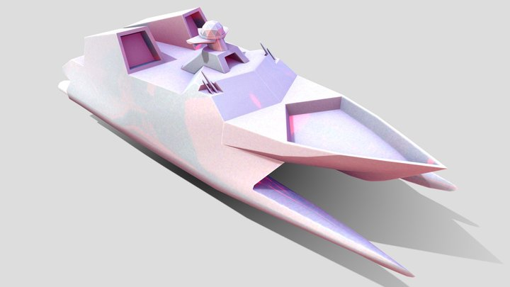 Type022 Missile Catamaran (modified for RTS) 3D Model