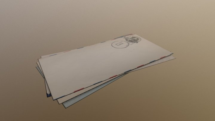 Letter Pile 3D Model