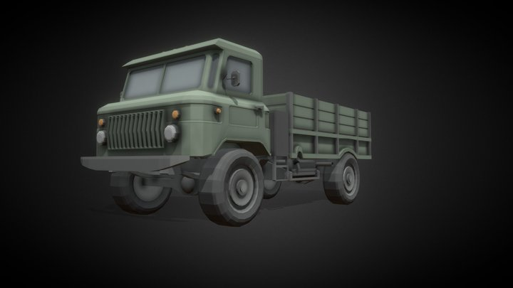 "Gaz 66 ""Shishiga"" #FreeLowPoly 3D Model"