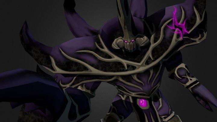 Fallen General Rajaxx, World of Warcraft Fan Art 3D Model