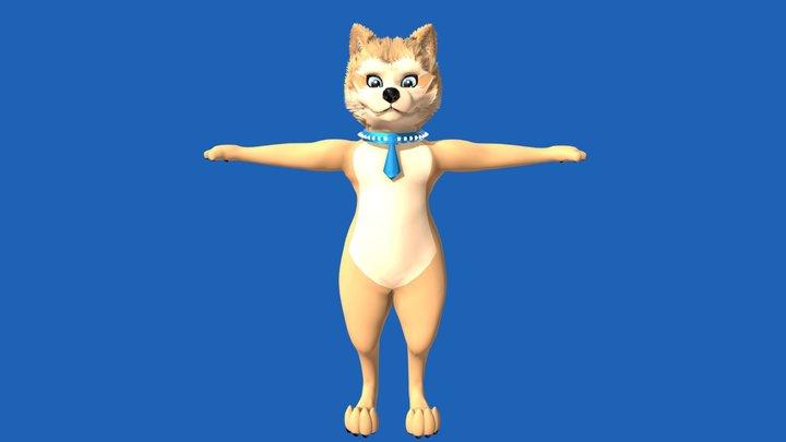 Akita 3D Model