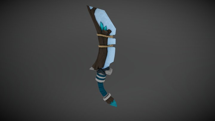Hand Painted Dagger Final 3D Model