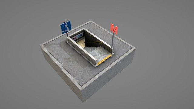 Small Subway Entrance 3D Model