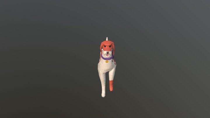 English Foxhound Walk Cycle 3D Model