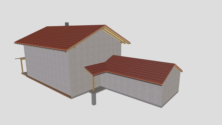 Dachstuhl Traunwalchen 3D Model