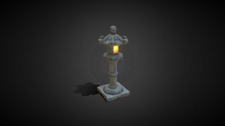 Stone Lantern - Tall 3D Model