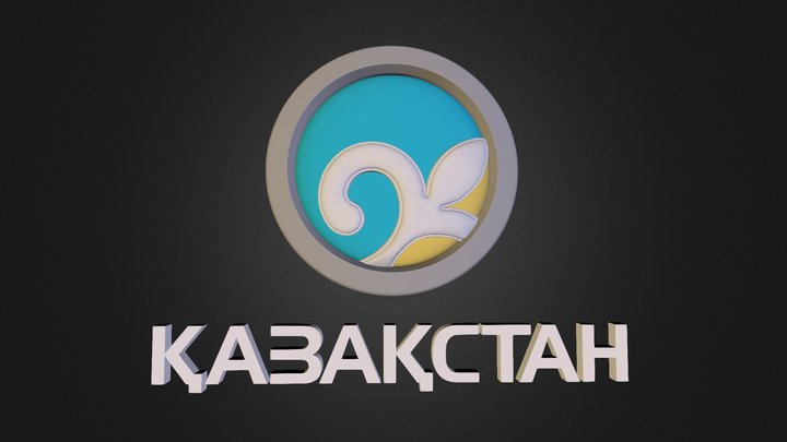 Logo_TV_Channel_Kazakhstan 3D Model