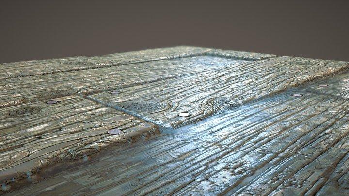 Water Damaged Wood Material 3D Model