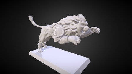 Elve's lion miniature 3D Model