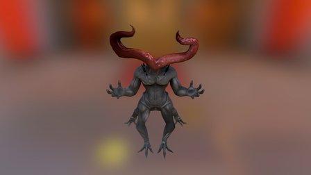 Nightmare Centaur Alien Sculpt 3D Model