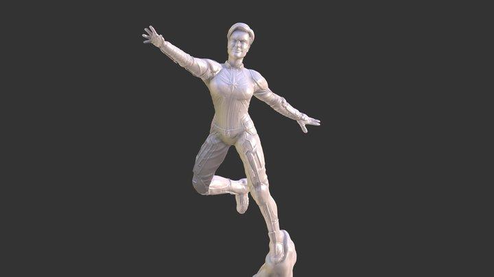 CAPTAIN MARVEL ENDGAME INSPIRITED FIGURE, 2HEADS 3D Model