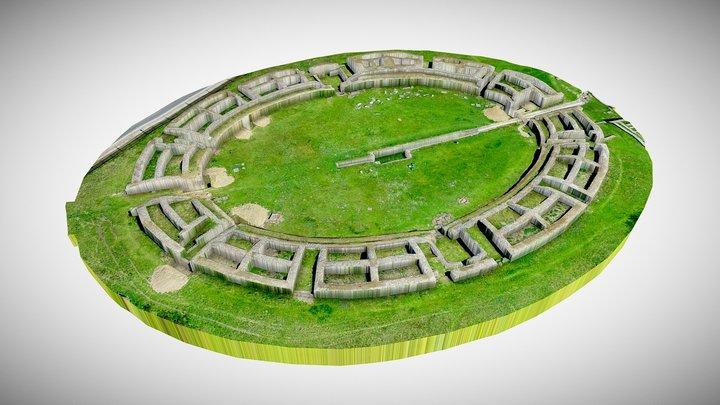 Ulpia Traiana Sarmizegetusa Amphitheater 3D Model