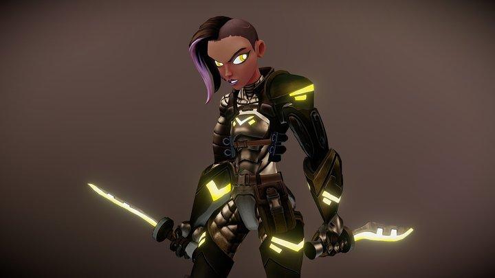 Halima - Sci-fi Assassin 3D Model
