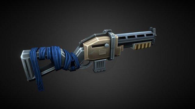 Toon Gun 3D Model